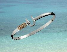 4mm .925 Sterling Silver & 14K Gold ST. CROIX Caribbean Hook Bracelet - Size 7