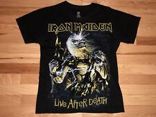 Iron Maiden Live After Death Black T-Shirt- Size Small S VTG Screen Print Hanes