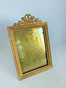 19TH C. ANTIQUE FRENCH  GILT BRONZE PICTURE FRAME