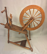 Antique Spinning Wheel & Whorl Treadle & Connector 14 Spoke Wheel John Holmes?