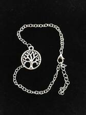 Silver Coloured Tree of Life Ankle Bracelet Anklet Adjustable UK Seller