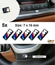 5 X  3D Logo BMW M Sticker Pegatina Adhesivo 16 x 7 mm  Llantas Volante
