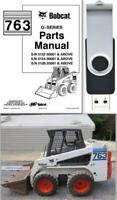 Bobcat 763 G-Series Skid Steer Loader Parts Manual On USB Flash Drive