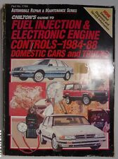 New listing 1984-1988 Chilton Fuel Injection Electronic Engine Dom Cars Trucks Repair Manual
