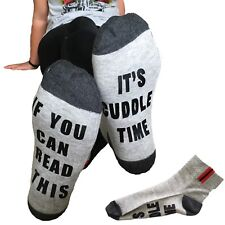 If you can read this it's cuddle time socks love sock girlfriend gift present