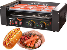 Wantjoin Hot Dog Grill Machine Commercial Electric Hot Dog 7 Roller Machine Sau