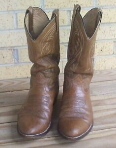 Laredo Brown Leather Western Cowboy Boots Size 13D