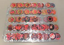 Original Glo Caps 1995 Series 2 100 Of 120 Red Glow Near Set VERY RARE Tazos
