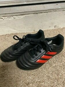 Adidas Black and Red Cleats for Boys Size 1 - Soccer Football Baseball