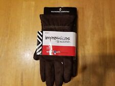 Mens Isotoner Impressions Casual Gloves - One Touch Technology - Medium - Brown