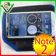 Armband per Samsung Galaxy NOTE 2 N7100 custodia fascia braccio sport BLU Nera