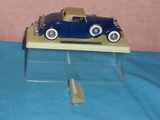 712 I SOLIDO 156 AGE OR 1935 DUESENBERG J SPIDER CAB CLOSED BLEU FONCE  BOX 1/43