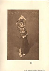 1904 Viktorianisch Studio Aufdruck ~ Carola Helen Baird Porträt Von George Henry