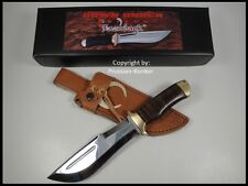 """RAZORBACK"" HUNTING KNIFE W/ LEATHER SHEATH DOWN UNDER KNIVES ""THIS IS A KNIFE""!"