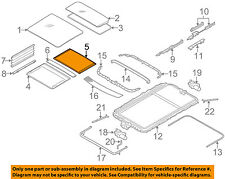 BMW OEM 06-10 X3 Sunroof Sun Roof-Sunshade Shade Cover 54103418914