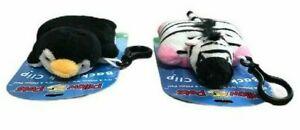 Pillow Pets Zebra Penguin School Bag Backpack Animal Clip 2011 Collectable