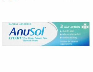 Anusol Cream Shrinks Piles Relieves discomfort Itching soothing 23g