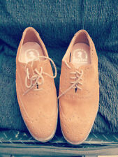 BAXTER SUEDE BROGUE CHURCH'S SHOES SIZE 9EEE     (%115)