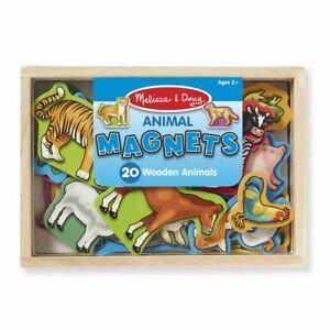 Melissa & Doug Wooden Animal Magnets   Pretend Play