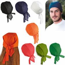 Bandana cappellino sottocasco moto  cuoco chef cucina  ciclismo 7 colori