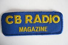 CB RADIO MAGAZINE SEW ON PATCH ONLY..........RADIO_TRADER_IRELAND.