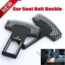 2 X Car Safety Seat Belt Buckle Alarm Stopper Clip Clamp Carbon Fiber Universal