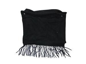 Dockers Black Fleece Scarf New Acrylic