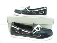 Women's Cole Haan Nantucket Camp Moccasins Navy Patent Size 8 B