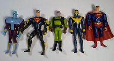 Superman JLU JLA Animated Series Figure Lot Superman Luthor Brainiac Kenner