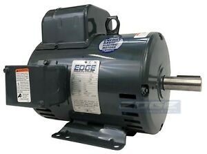 5 HP LEESON COMPRESSOR DUTY ELECTRIC MOTOR REPLACES 131537, BALDOR L1430T L1410T
