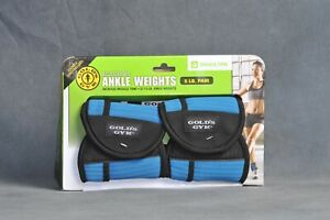 Gold's Gym Adjustable Ankle Weights - 5 pounds: 2.5 pounds each - Blue