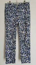 Scanlan Theodore Womans Pants Casual 7/8 Length Size 8 Loose Fit Scroll Pattern