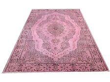 "8' 10"" x 5'9"" Vintage powder pastel soft  pink  OUSHAK Overdyed carpet rug"