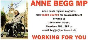 ANNE BEGG AUTOGRAPH, BRITISH POLITICS