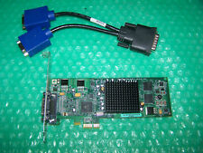 Matrox G550 PCIe x1 Dual Monitor Graphics Card + Cable, Win 7/8 compatible