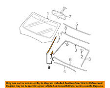 HONDA OEM Pilot Windshield-Pillar Side Molding Trim Surround Left 73162SZAA01ZA