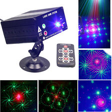 Sound Activated RGB LED Rotating Laser Stage Light Party KTV Disco Lamp Remote