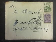 1926 Sanciai Lithuania cover to Bramwell Usa
