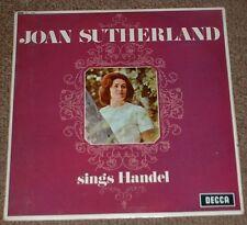 DECCA SXL 6191 WBg JOAN SUTHERLAND sings Handel 1965 UK STEREO LP + INSERT