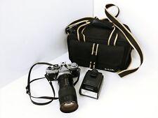 Vtg Olympus OM-2 with Macro Kiron zoom Photo lens Made in Japan Manual Camera B1