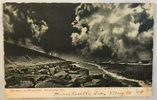 1909 Antique Postcard Sea Wall by Moonlight Galveston Texas TX PC