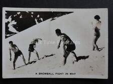 No.11 SNOWBALL FIGHT IN MAY PERTHSHIRE RP Winter Scenes - Pattreiouex 1937