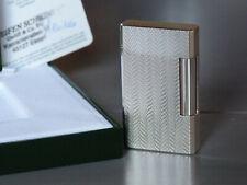 S.T. Dupont Lighter / Feuerzeug Davidoff Prestige Line Accolades Silber