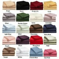 "Soft Fitted Sheet 1000 Thread Count 100% Cotton 14"" Deep Pocket"