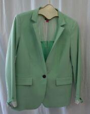 Vince Camuto Women's Blazer Aqua Turquoise Blue Long Sleeve w/ Cuffs Size 10 EUC