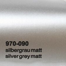 ( 18,41€/m ²) 0,5m m x 1,52m Oracal 970ra GRIS PLATA MATE 090 Película Auto