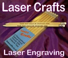 12 Personalised Laser Engraved Pencils - Different Name Or Phrase On Each Pencil