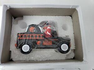 Danbury Mint NFL Cleveland Browns 2020 Christmas Ornament Fire Truck Santa