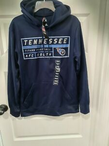 Majestic S NFL Football Tennessee Titans AFC South Hoodie Sweat Shirt Small NWT