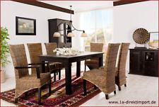 Mediterrane Esszimmerstühle aus Rattan